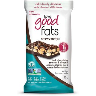 Good Fats Chewy-Nuts Dark Chocolatey Sea Salt & Almond