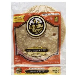 La Tortilla Factory Gluten free Wraps Teff