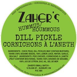 Zaher's Small Batch D/C Zaher's Small Batch- Dill Pickle
