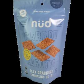 Nud Nud Organic Raw Keto Crackers- Carrot Flax