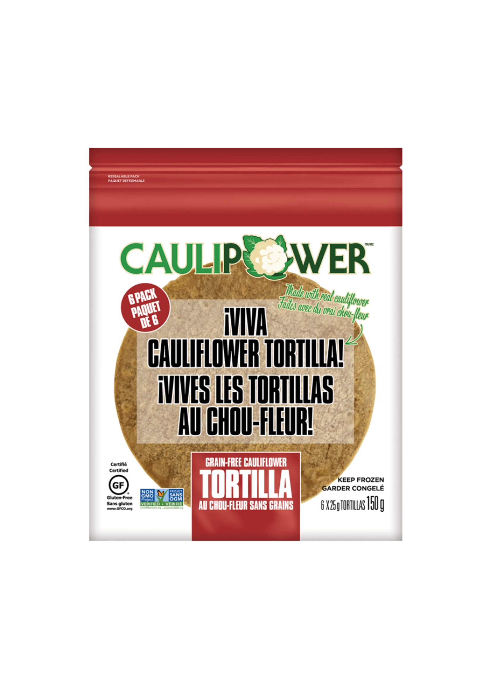 CAULIPOWER CAULIPOWER- Grain Free Cauliflower Tortilla (6 Ct)