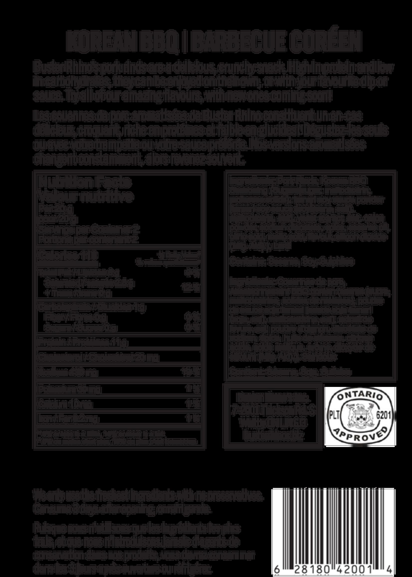 Buster Rhinos Pork Rinds Korean BBQ