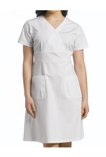 White Cross 8011 White Cross Poly-Cotton Dress