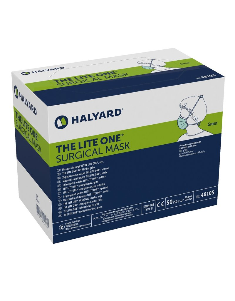 48100 Halyard The Lite One Surgical Masks 50pc (Blue)