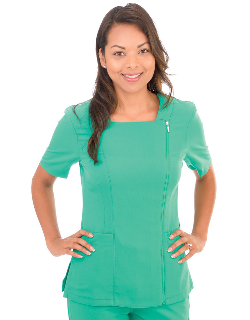 PRO 590 Excel Zippered Scrub Top