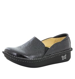 Alegria Alegria Debra Black Embossed Rose Shoe