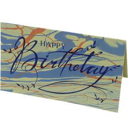 Prokritee Green & Orange Happy Birthday card