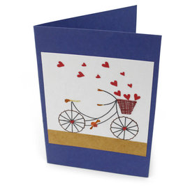 Salay Handmade Paper Industries Inc. Petal Pusher Bicycle Greeting Card