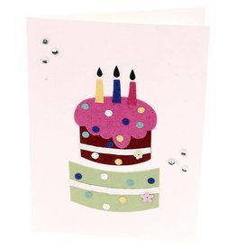 Salay Handmade Paper Industries Inc. Birthday Cake Card
