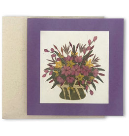 Salay Handmade Paper Industries Inc. Bouquet of Flowers Greeting Card