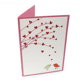 Salay Handmade Paper Industries Inc. Hearts And Boughs Greeting Card