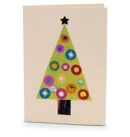 Salay Handmade Paper Industries Inc. Christmas Tree Holiday Card