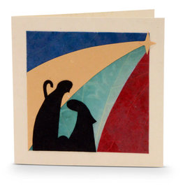 Salay Handmade Paper Industries Inc. Nativity Silhouette Holiday Card