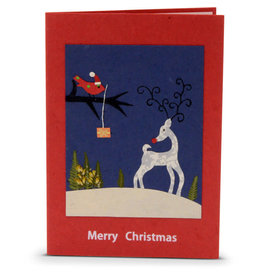 Salay Handmade Paper Industries Inc. Reindeer Holiday Card