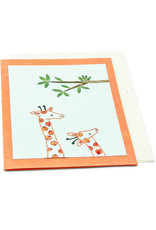 Salay Handmade Paper Industries Inc. Mommy and Me Giraffe Greeting Card