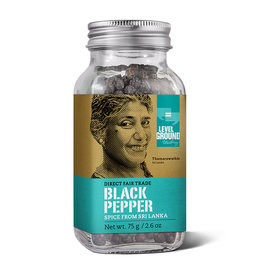 Level Ground Black Peppercorn Spice Jar