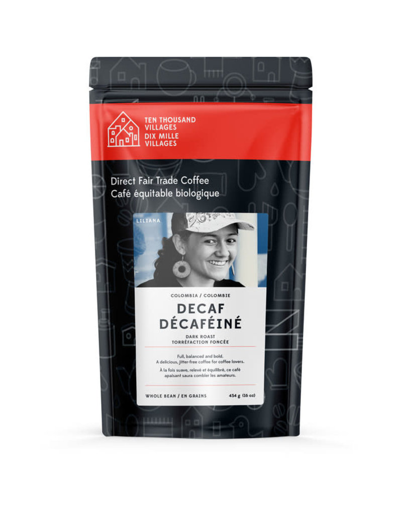 Level Ground Coffee Colombian Dark Roast Decaf (Beans)
