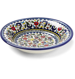 Hebron Glass Wild Flowers Ceramic Platter