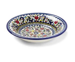 Hebron Glass Wild Flowers Ceramic Platter