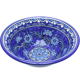 Hebron Glass Flower Garden Ceramic Bowl