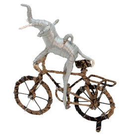 Otic International Cycling Elephant Statue