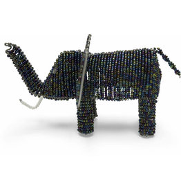 Otic International Beaded Elephant Sculpture (large)