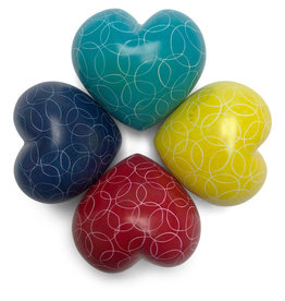 Undugu Society of Kenya Heart Shaped Kisii Stone Paperweights