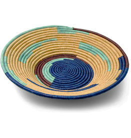 Uganda Crafts 2000 Ltd. Cobalt Rafia Coiled Basket