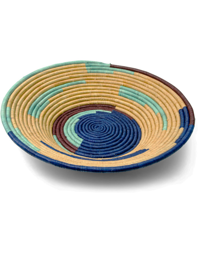 Uganda Crafts 2000 Ltd. Cobalt Rafia Coiled Basket