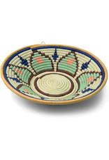 Uganda Crafts 2000 Ltd. Floral Rafia Coiled Basket