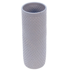 Association of Craft Producers Diamond Textured Blue Ceramic Vase