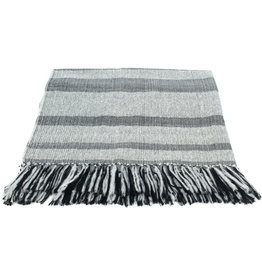 Allpa Storm Cloud Alpaca Fringed Throw