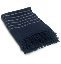 Allpa Sailor Stripes Fringed Alpaca Throw