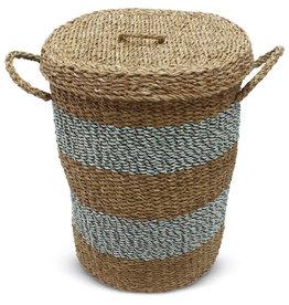 Dhaka Handicrafts Hogla Laundry Basket with Lid