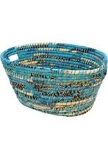 Prokritee Reclaimed Sari Handle Basket