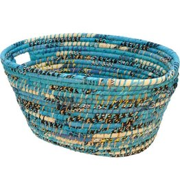 Prokritee Reclaimed Sari Handle Basket