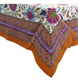 Asha Handicrafts Flower Power Tablecloth