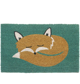 Asha Handicrafts Snoozing Fox Doormat