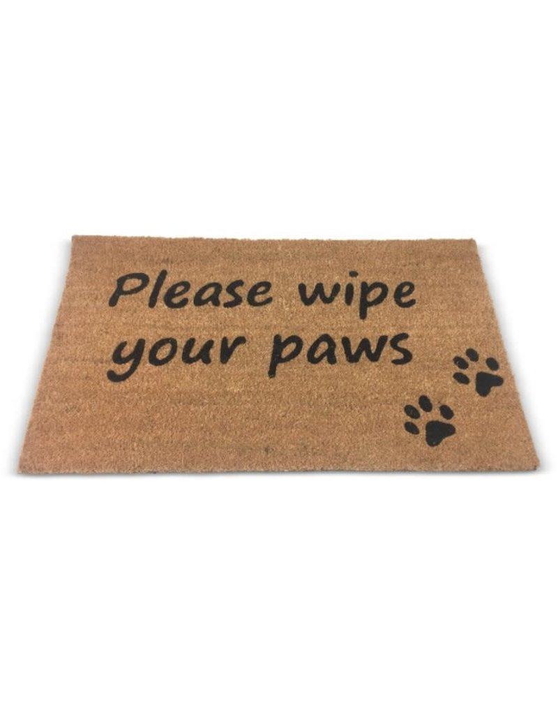 Asha Handicrafts Wipe Your Paws Please Doormat