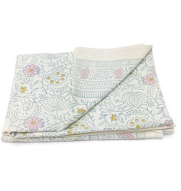 Asha Handicrafts Pastel Floral Tablecloth