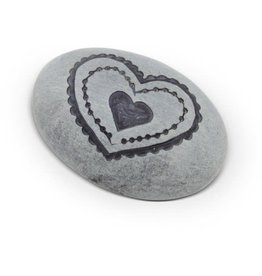 Sasha Association for Crafts Producers Grey Heart Paperweight