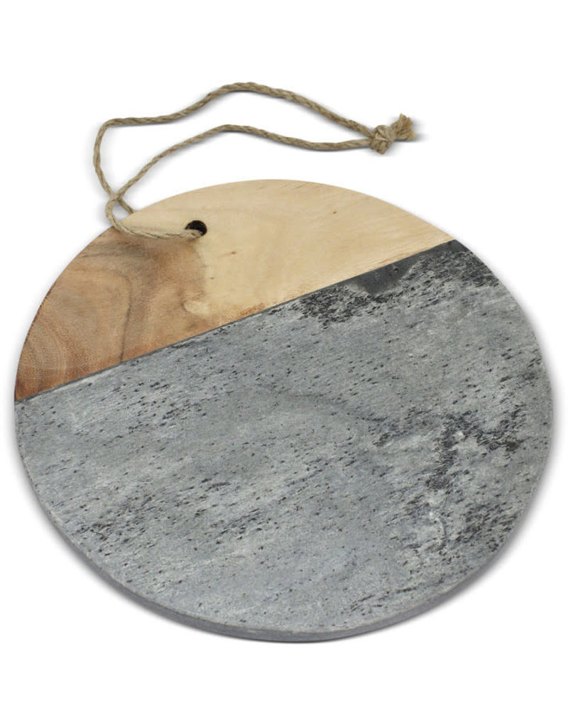 Sasha Association for Crafts Producers Mangowood and Slate Serving Board