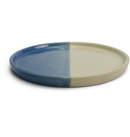 Craft Resource Center Blue and White Ceramic Plate