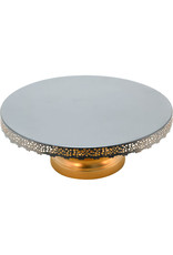 Noah's Ark Silver Lace Cake Stand