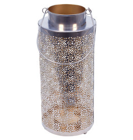 Noah's Ark Silver and Gold Lace-Look Lantern