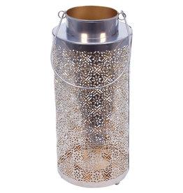 Noah's Ark Silver & Gold Lace-Look Lantern