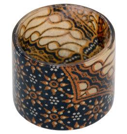 Mitra Bali Black Batik Napkin Ring