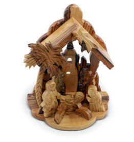 Medium Olivewood Nativity
