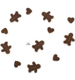 Association of Craft Producers Gingerbread Felt Garland