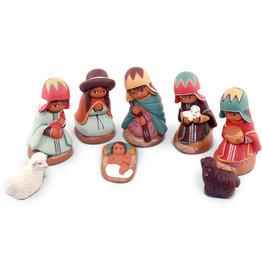 Manos Amigas Small Ceramic Nativity with Two Animals